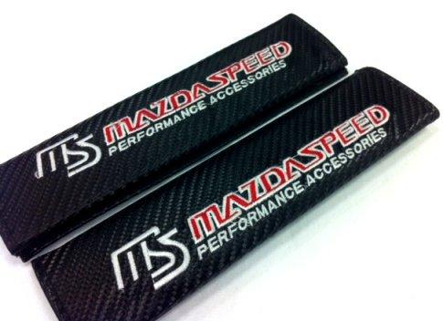 Mazdaspeed Carbon Fiber Seat Belt Cover Shoulder Pad Cushion (2 pcs)