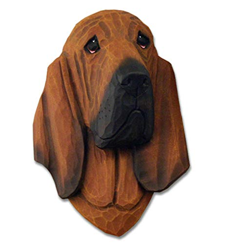 Ky & Co YesKela Bloodhound Head Plaque Figurine Red