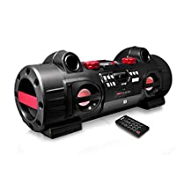 Pyle Audio PBMSPG80 Party Blaster Boom Box, Bluetooth and NFC Wireless Streaming for Universal Devices