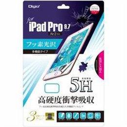 【まとめ 3セット】 ナカバヤシ iPad Pro 9.7インチ用 フィルム 5H高硬度 フッソ 光沢 衝撃吸収 TBF-IP16FPK5H   B07KNKVR6W