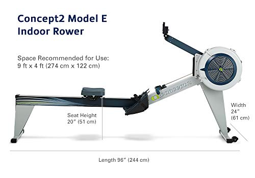 Concept2 Model E with PM5 Performance Monitor Indoor Rower Rowing Machine Gray