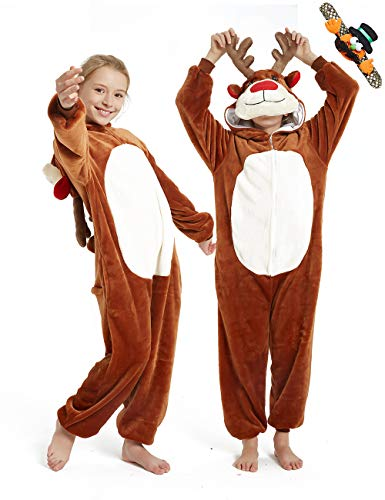CASABACO Reindeer Onesie Kid Halloween Girl Deer