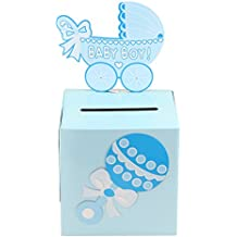 Adorox 3D blue Baby Shower Wishing Well Card Box Decoration...