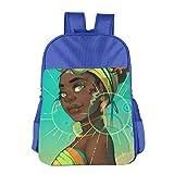 Africa American Girl Children School Backpack Carry Bag For Kids Boy Girls