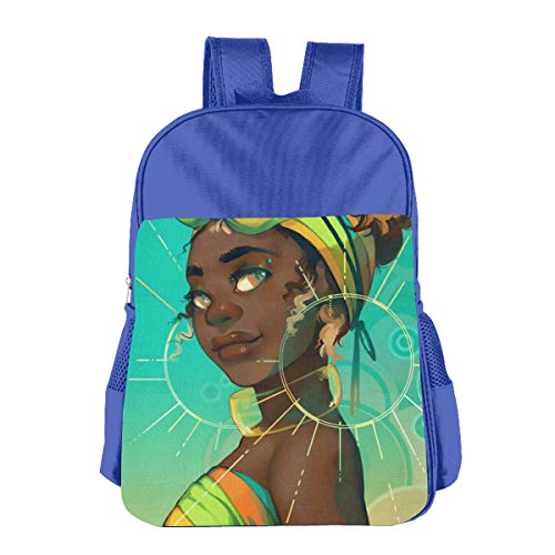 Africa American Girl Children School Backpack Carry Bag For Kids Boy Girls by Silinana