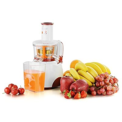 KUPPET Electric Slow Masticating Juicer Extractor, For High Nutrient Juice Reducing Oxidation, Fresh Fruit and Vegetable Juice with Juice Jug and Cleaning Brush