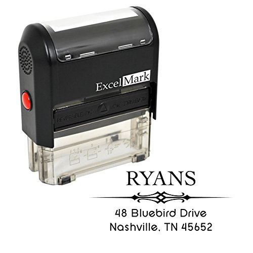 Custom Stamp - Return Address Stamp - Self Inking Stamp Design 1