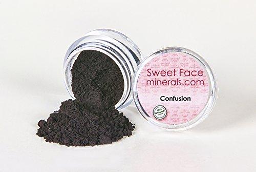 - BLACK EYE LINER Shadow Mineral Makeup Bare Eyes Matte Loose Powder Cover