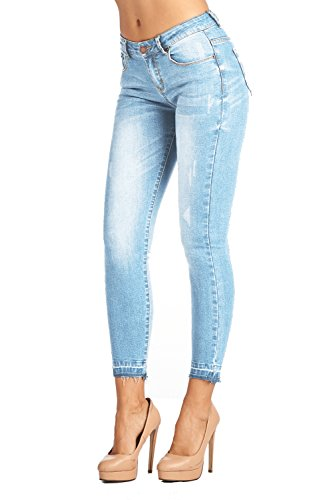 BLUE Womens Butt Lifting Skinny Jeans product image