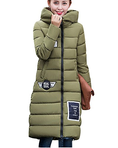Verde Di Sottile Womens Militare Cappotto Dianshao Cappotti Giacche Oversize Spessore Caldo Imbottita w1wRT
