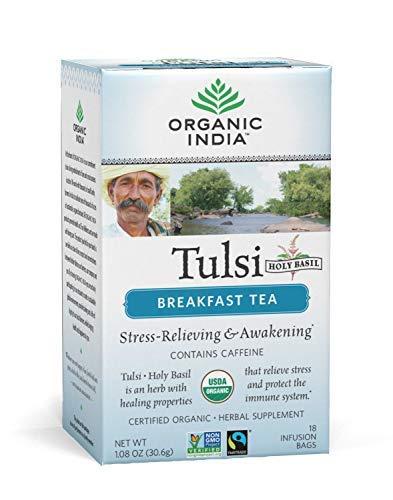 Organic India Tulsi India Breakfast Tea, 18 Count