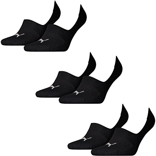 Gr 46 Footie Socks Invisible 6 Unisex Pair Black 200 35 Puma xPXqA0w