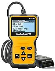Motopower leitor de código de falha do motor de carro universal OBD2 MP69033, ferramenta de digitalização de diagnóstico para todos os carros OBD II desde 1996