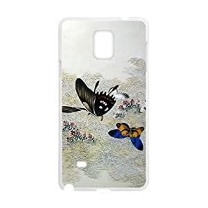 Butterfly High Quality Cover Case for Samsung Galaxy Note 4,Custom Butterfly Cell Phone Case