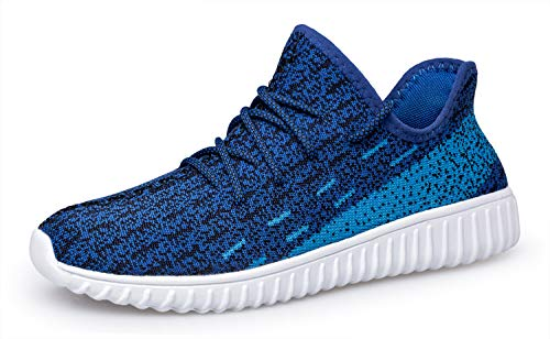 Outdoor Casual Shoes Blue Sports White Breathable Walking Tianui Shoes Sneakers Lightweight Fashion Athletic Men nS4qzUgWHY