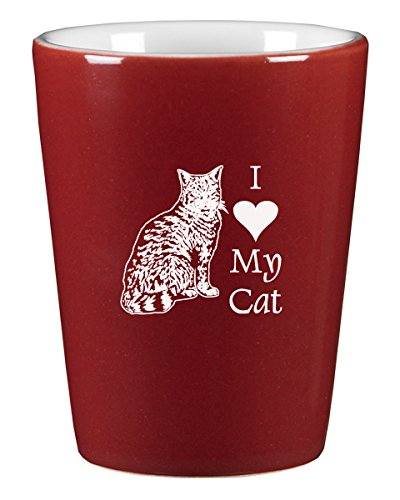 ceramic shot glass i love