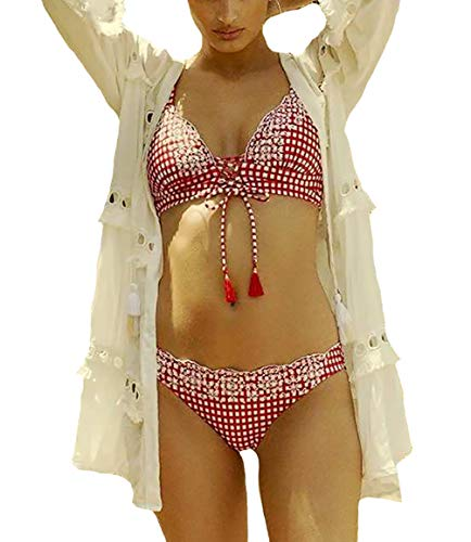 Bestyou Women's Print Rayon Kimono Cardigan Swimsuit Cover up Tunic Tops Swimwear (White E)