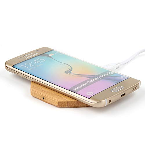 Accessory Joytech - Dynamic XPorts Wireless Charger Pad Qi-Certified Sleek Slim Bamboo Octagon Shape Bedside Desk Accessory for iPhone X, iPhone 8/8 Plus, Samsung Galaxy S9 / S9+ / S8 / S8+ / S7 /Note 8 and More