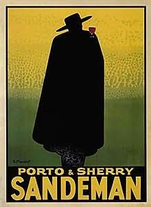 SANDEMAN POSTER - VINTAGE PORTO GERGES MASSIOT 24X36