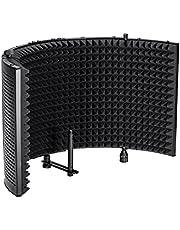 """Monoprice Escudo de aislamiento de micrófono Plegable con montaje roscado de micrófono de 3/8"""""""