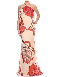Women s Dress Sleeveless Maxi Ruffled Detailing Ivory