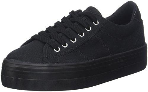 Nameplato Black black Canvas Sneaker Noir Donna Fox Noname Basse No zAwn5SqB
