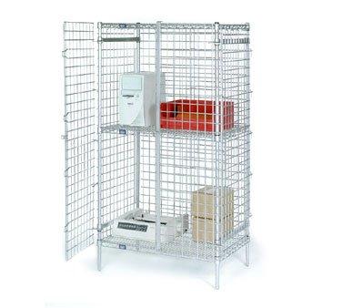 Nexel Wire Security Shelving Unit, Clear Epoxy Finish, 24...