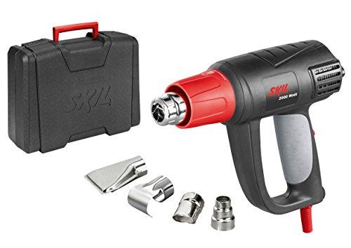 Skil Heißluftpistole 8004 AA (2.000W, LCD Temperatureinstellung, 4 tlg. Zubehörset, mit Koffer)