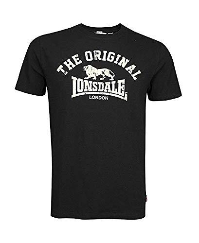 Lonsdale London Logo t-Shirt Original, UK Fashion tee, Regular-Fit, Black Size - 2012 T-shirt London