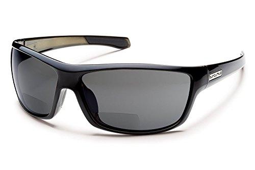 Suncloud Conductor Bi-Focal Sunglass Readers in Black - Sunglasses 2.00