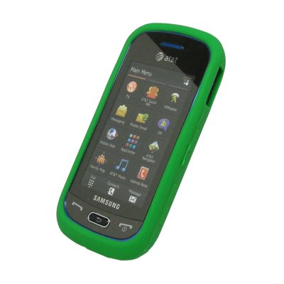 EMPIRE Vert Fluo Silicone Skin Cover Couverture Case Étui Coque for Samsung Eternity 2 A597