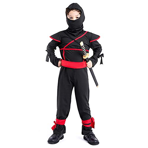 Toddler Ninja Costume Boys Jumpsuit Masked Warriors Costumes