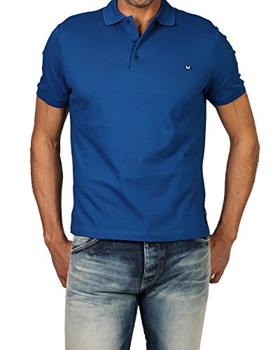 FENDI - Men's Polo BUG (FY0707 1LW) - blue, Medium (IT/FR : - Fendi Men