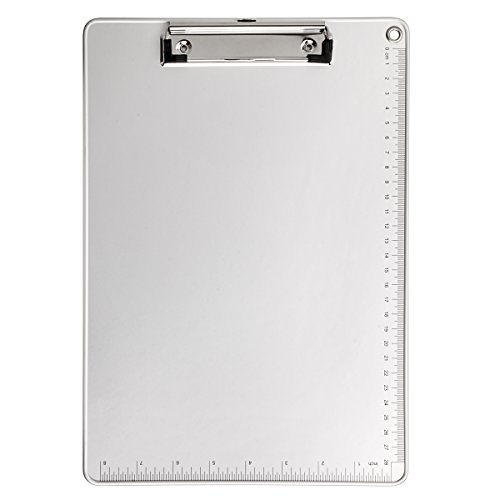 Clipboard, Kakbep Recycled Aluminum Clipboard with Strong Clip Double Side Non-Slip Design, 9 x 12.5