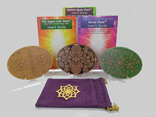 Gifts for The Spiritual Person ~ Powerforms 3 ~ Neutral Space + Portal + Super Cell + Velvet Carry Bag (Save $26.47)