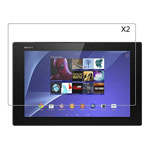 Kepuch 2 Pack Tempered Glass Screen Protector Transparent for Sony Xperia Z2 Tablet (Xperia Tablet 2)