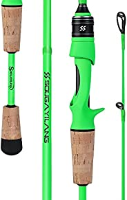 Sougayilang Fishing Rods,Sensitive Casting Rod & Spinning Rod of 24 Ton Carbon Fiber,Lightweight Two Piece
