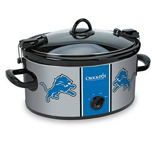Official NFL Crock-pot Cook Carry 6 Quart Slow Cooker – Detroit Lions