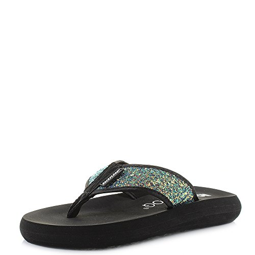 Spotlight, Chanclas Para Mujer, Black (Oil Slick), 41 EU Rocket Dog