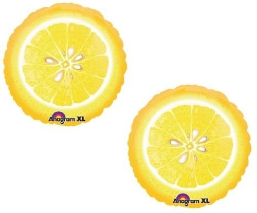LoonBalloon LEMON Slice LEMONADE Yellow Stand Summer Party (2) 18