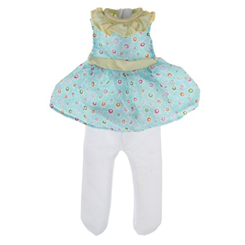 Fashion Set 14' Dress (Dovewill 14 inch Fashion Dolls Outfits Clothes Dress Set for 14'' American Girl Doll Wellie Wishers)