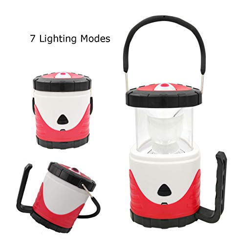 - Camping Lantern Flashlight Lithium Battery Powered Rechargeable Led Lamp 2 Level Brightness 3 Modes Color Camp Lantern,USB Charging for Hurricane,Camping,Emergency,Power Outage(Red)