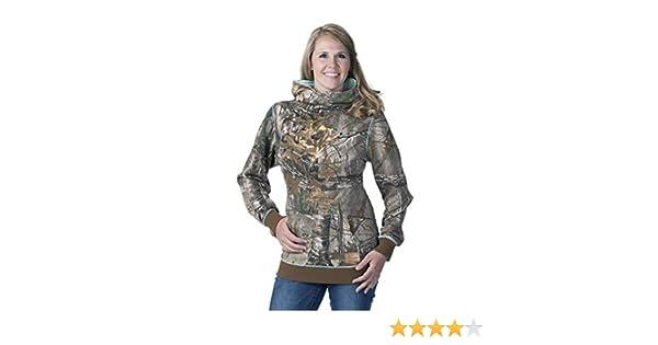 502d5d0250494 Amazon.com : DSG Outerwear Women's Camo Side Button Hoodie : Clothing
