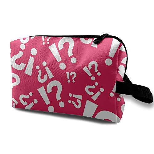 - Question Mark-1_zxGkKuHAhJFD-zmpFsj9ww Cosmetic Bags Makeup Organizer Bag Pouch Zipper Purse Handbag Clutch Bag