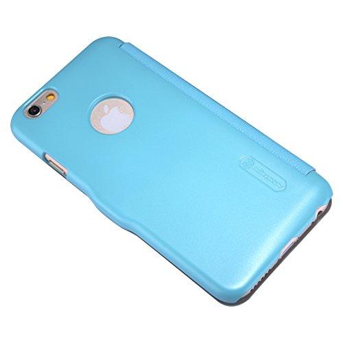 (HS-TOP  ® neuen NILLKIN Case Cover PU Schutzhülle Leder Tasche Flip Conque für Apple iPhone 6 Plus (5,5 Zoll), Blau