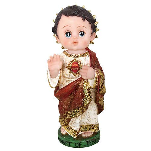 Annie's Boutique Child Style Jesus Statue Sculpture Nino Baby Face Sacred Heart of Jesus Statue(5 Inches)