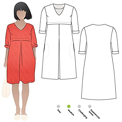 Amazon.com: Style Arc Sewing Pattern - Patricia Rose Dress (Sizes 18 ...