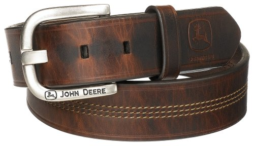 John Deere Men's 35Mm Belt, Brown, 36 (Deere In Made John)
