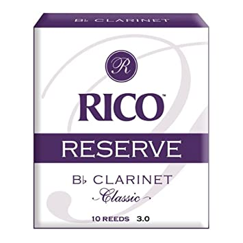 Rico Reserve Classic Bb Clarinet Reeds, Strength 4.5, 10-pack RCT1045