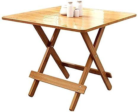 WYJW Mesa Plegable | Mesa de Comedor | Mesa Cuadrada para el hogar ...